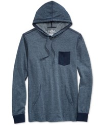American Rag Men's Homebased Colorblocked Long Sleeve Hoodie T Shirt Only At Macy's Basic Navy
