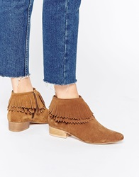 Faith Swift Tan Fringed Western Boots
