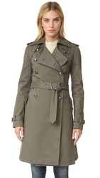 Rebecca Minkoff Amis Coat With Grommets Army