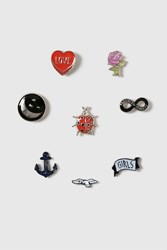 Topshop Infinity And Animal Pin Pack Multi