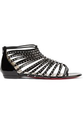 Christian Louboutin Millaclou Studded Patent Leather Sandals Black