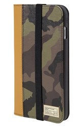 Hex 'Icon' Iphone 6 Plus And 6S Plus Wallet Case Brown Camo Leather