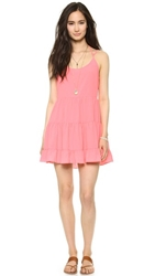 Bop Basics Multi Tier Ruffle Dress Coral