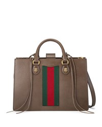 Gucci Animalier Large Leather Top Handle Bag Brown Brown Pattern