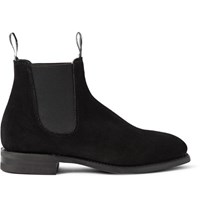R.M.Williams Comfort Craftsman Suede Chelsea Boots Black