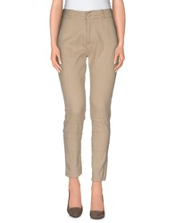 Paolo Pecora Donna Trousers Casual Trousers Women Beige