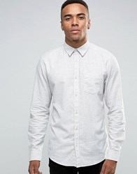 New Look Shirt With Long Sleeves In White In Regular Fit White