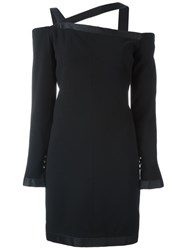 Chanel Vintage Off Shoulder Dress Black