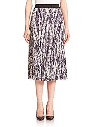 Elizabeth And James Braylon Pleated Floral Print Midi Skirt Multi