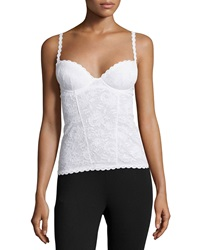 Cosabella Never Say Never Lace Bustier White