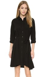Splendid Convertible Sleeve Shirtdress Black