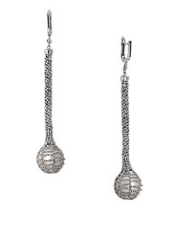 Effy Freshwater Pearl And Sterling Silver Lace Drop Earrings Pearl Silver