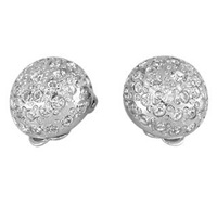 A Z Collection Clip On Earrings Silver