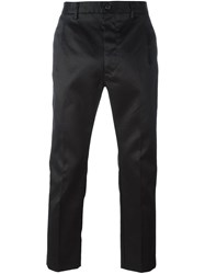Pence Cropped Tailored Trousers Black