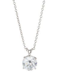 Fantasia 18K White Gold Plated Round Cut Cz Pendant Necklace