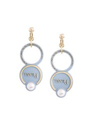 Theatre Products Faux Pearl Drop Earrings Blue