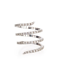 Magic Snake 18K White Gold Diamond Ring Staurino Fratelli