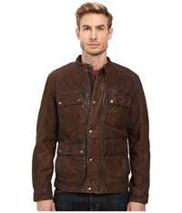 Lucky Brand Manx Leather Jacket Brown Men's Coat