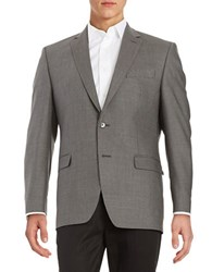 Calvin Klein Slim Fit Silk And Wool Blazer Taupe