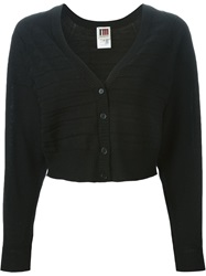 I'm Isola Marras Cropped V Neck Cardigan Black