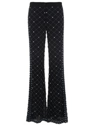 French Connection Pearl Cage Embellished Flares Black