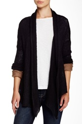 Wooden Ships Split Back Swing Cardigan Black