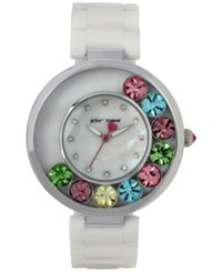 Betsey Johnson Women's White Ceramic Bracelet Watch 41Mm Bj00578 01