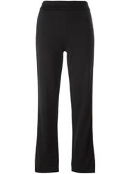 See By Chloe Stripe Applique Trousers Black
