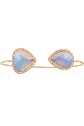 Kimberly Mcdonald 18 Karat Rose Gold Opal And Diamond Cuff