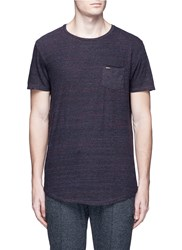 Scotch And Soda Melange Cotton Blend T Shirt Grey