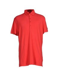 Les Copains Topwear Polo Shirts Men Red