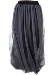 Nostra Santissima Pleated Tulle Skirt Grey