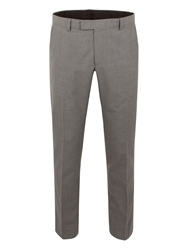 Limehaus Check Slim Fit Suit Trousers Grey