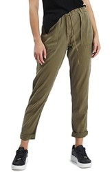 Topshop Women's Utility Tapered Trousers Olive
