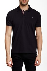 Micros Regular Fit Short Sleeve Polo Black
