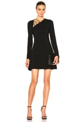 Cushnie Et Ochs Winona Long Sleeve Fit And Flare Dress In Black