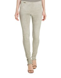 Polo Ralph Lauren Stretch Suede Skinny Pant Grey