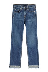 Rag And Bone Straight Leg Jeans Blue