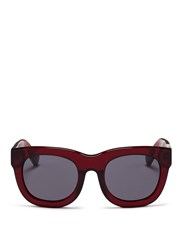 3.1 Phillip Lim Acetate Rounded Square Sunglasses Red
