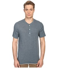 Billy Reid Short Sleeve Hunter Henley Lagoon Blue
