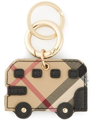 Burberry Checked Bus Keyring Brown