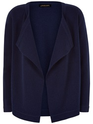Jaeger Open Front Wool Cardigan Midnight