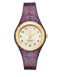 Kate Spade Rumsey Glitter Strap Watch Multi Colored