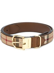 Burberry Checked Belt Nude And Neutrals