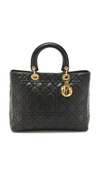 Wgaca Dior Lady Dior Bag Black