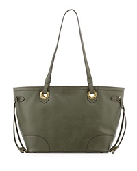 Oryany Amber East West Saffiano Leather Tote Bag Forest