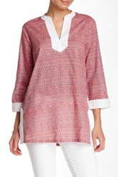J. Mclaughlin Bailey Printed Tunic Red
