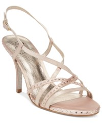 Adrianna Papell Acacia Strappy Slingback Evening Sandals Women's Shoes Shea Pink