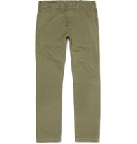 J.Crew Disondrio Cotton Twill Chinos Green