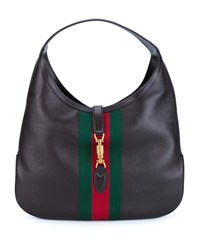 Gucci Jackie Soft Hobo Bag Brown Green Red